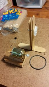 hobby motor and pulley
